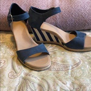 UGG Suede Espadrille Wedge Sandal